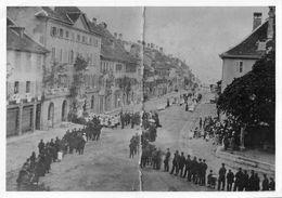 Bulle Grand'Rue - Fête Procession De La Fête-Dieu 1880 - Photo Tirée D'une Photo Plus Ancienne. - Reproductions