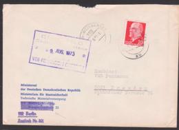 Berlin-Weissensee Ministerrat Der DDR Ministerium Für Staatssicherheit Techn. Materialversorgung, 1973, Abs. Korrektur - Cartas