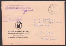 """Bautzen Budysin ZKD-Orts-Brief Mit """"Nur Für Den Dienstgebrauch"""" St. Abs. Staatliche Versicherung Der DDR 17.8.77 - Service"""