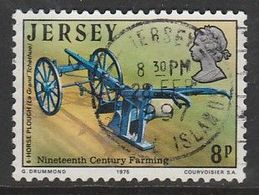 Jersey 1975 The 19th Century Farming 8p Multicolored SW 110 O Used - Jersey
