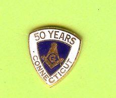 Pin's Franc-Maçonnerie 50 Years Connecticut - 5DD04 - Associations