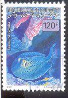 DJIBOUTI 120F USED STAMP A67141 TAENIURA LYMMA FISH - Djibouti (1977-...)