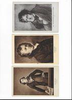 3 CPA Personnages Célèbres André CHENIER Chateaubriand Et Bertrand De Vieuzac BARERE - Famous People
