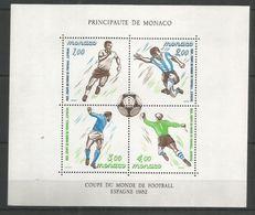 MONACO - MNH - Sport - Soccer - World Cup 1982 - Fußball-Weltmeisterschaft
