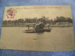 """C.P.A.- Océanie - Nouvelle Calédonie - Rivière De La Tontota - """" L'Automobile Sur Le Bac """" - 1921 - SUP - (DD 20) - Nouvelle-Calédonie"""