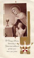 Draguignan (Var, Francia) - Santino Antico SOUVENIR COMMUNION SOLENNELLE De NICOLE FÉRAUD 27 5 1948 - P38b- - Religión & Esoterismo