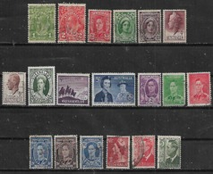 1937-52 Australia Personajes-navidad 19v. - 1937-52 George VI