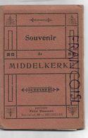 Carnet Complet De 12 Vues Panoramiques De Middelkerke Avec Noms Des Villas. - Souvenir De...