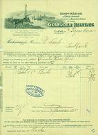 """CLEVE Kleve 1911 Rechnung Besonders Deko """" Gebr.Reintjes Dampfkäserei Edamer Holländer """" - Alimentare"""