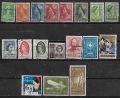 1963-5 Australia Personajes-navidad-avion 18v. Variedades - 1952-65 Elizabeth II : Pre-Decimals