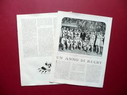 Un Anno Di Rugby Ambrosiana Lazio Piero Paselli Lo Sport Fascista 1929 - Libri, Riviste, Fumetti