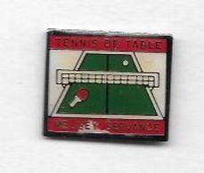 Pin's  Sport  Tennis  De  Table  MELISEY - SERVANCE  ( 70 ) - Tennis De Table