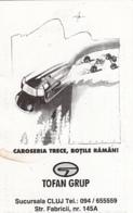 87904- CAR, TYRES COMPANY ADVERTISING, POCKET CALENDAR, 2000, ROMANIA - Small : 2001-...