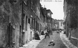 BESANCON - La Rue Sachot. Edition Raffin N° 21. Circulée En 1914. Bon état. - Besancon