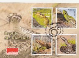 87916- STAMPS, REPTILES, SNAKE, LIZARD, ROMFILATELIA COMPANY ADVERTISING, POCKET CALENDAR, 2012, ROMANIA - Small : 2001-...