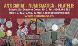 87927- STAMPS, MEDALS, MONEY, ANTIQUE STORE ADVERTISING, POCKET CALENDAR, 2015, ROMANIA - Small : 2001-...