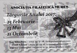 87928- PHILATELIC ASSOCIATION FAIRS, ADVERTISING, POCKET CALENDAR, 2017, ROMANIA - Small : 2001-...