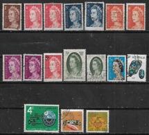 1966-7 Australia Personajes-minerales-fauna Cangrejos 17v. Variedades - 1966-79 Elizabeth II