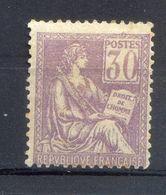 050620//  TIMBRE FRANCE...N°128 NEUF*   COTE 325...aspect Dépouillé... - 1900-02 Mouchon