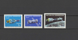 Dominican Republic 1975 Space Apollo-Soyuz Of 3 MNH - Space