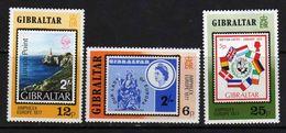 "Gibraltar N° 364 / 66  XX   ""Amphilex"" Europe 1977.  Les 3 Valeurs Sans Charnière, TB - Gibraltar"