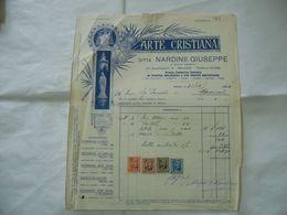 FATTURA NARDINI GIUSEPPE ARTE CRISTIANA FORNITORE CARDINAL FERRARI 1940.22 - Italia
