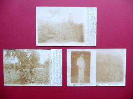 3 Fotografie Originali Africa Esplorazioni Leopoldville Caccia Tribù Congo 1904 - Foto
