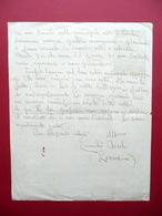 Autografo Emilia Ascoli Liana Lettera Ancona 1934 Scrittrice Letteratura Favole - Autographs
