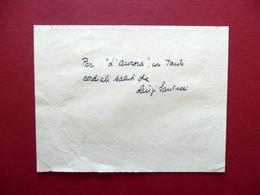 Autografo Luigi Santucci Biglietto Letteratura Scrittore Milano - Autographs