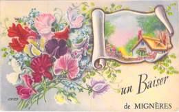 45 - MIGNIERES : Un Baiser De ...  Jolie CPA Illustrée Colorisée Village (315 Habitants ) Loiret ( Val De Loire ) - Frankreich