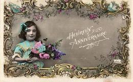 ENFANTS 1110 : Heureux Anniversaire , Bouquet De Fleurs : édit. N Traversé D'une Flèche N° 459 - Other