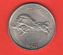 Slovenia 50 Talleri Tolarjev 2005 Nichel Toro Taurus Bull - Slovenia