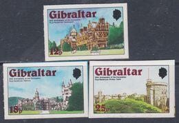 Gibraltar N° 376 / 78 XX  Anni. Du Couronnement De S. M. Elisabeth II. Les 3 Valeurs Gom. Adhésif, Sans Charnière,  TB - Gibraltar