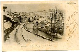 TULLE - Quai De Rigny Sous La Neige - Voir Scan RV - Tulle