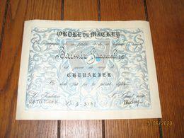 "Diplôme De Chevalier  ""Ordre De MICKEY"" - Walt DISNEY 1958 - BD  (b94) - Diploma & School Reports"