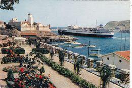 66. PORT VENDRES.  LE COURRIER D'ALGERIE QUITTANT LE PORT. ANNEE 1963 + TEXTE - Port Vendres