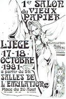 LIEGE 1981 - 1er SALON DU VIEUX PAPIER - SALLE DE L'EMULATION - Organisation : Michel GARWEG - Beursen Voor Verzamellars