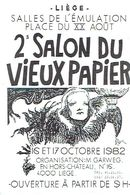 LIEGE 1982 - 2ème SALON DU VIEUX PAPIER - SALLES DE L'EMULATION - Organisation : Michel GARWEG - Beursen Voor Verzamellars