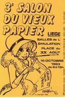 LIEGE 1983 - 3ème SALON DU VIEUX PAPIER - SALLES DE L'EMULATION - Organisation : Michel GARWEG - Beursen Voor Verzamellars