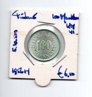 FINLAND 100 MARKKAA 1956H ZILVER - Finland