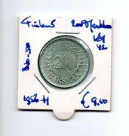 FINLAND 200 MARKKAA 1956H ZILVER - Finland