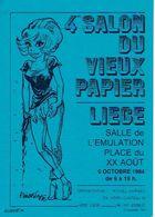 LIEGE 1984 - 4ème SALON DU VIEUX PAPIER - SALLES DE L'EMULATION - Organisation : Michel GARWEG - Beursen Voor Verzamellars