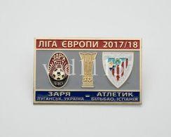 "Badge Pin: UEFA Champions League 2017-18  Shakhtar Donetsk Ukraine - "" Athletic Club Bilbao "" Spain - Fútbol"