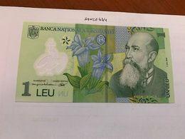Romania 1 Leu Uncirc. Polymer Banknote 2008 - Rumania