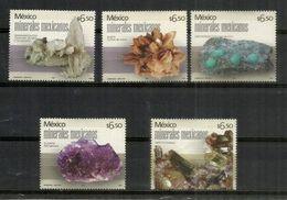 MEXIQUE. Smithsonite,Apatite,Fluorite,Baryte,Manganèse. Minéraux Du Mexique.  5 Timbres Neufs ** - Minerali