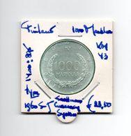 FINLAND 1000 MARKKAA 1960  S-J ZILVER TYPE CURRENCY SYSTEM - Finland