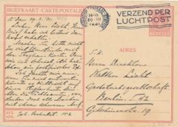 Nederland - 1931 - 7,5 Cent Veth, Briefkaart G227b - Dordrecht - Echt Gebruikt Van Amsterdam Naar Berlin / Deutschland - Entiers Postaux