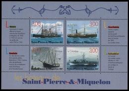 St. Pierre & Miquelon 1999 - Mi-Nr. Block 6 ** - MNH - Schiffe / Ships - St.Pierre Et Miquelon