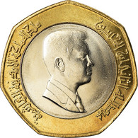 Monnaie, Jordan, Abdullah II, 1/2 Dinar, 2000, SPL+, Bi-Metallic, KM:79 - Jordanie