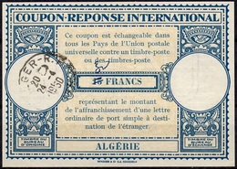 ALGERIE ALGERIA  Lo14ms. 30 / 15 FRANCS Int. Reply Coupon Reponse Antwortschein IAS IRC O ALGER R.P. 24.04.50 - Covers & Documents